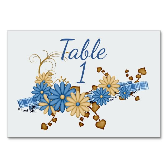 Country Blue Floral Card