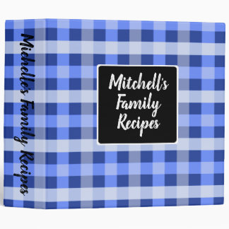 Country Blue Plaid Binders