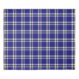 Country Blue Plaid / Solid Navy Blue ©AH2017 Duvet Cover