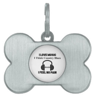 Country Blues Pet ID Tag