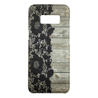 country bohemian Black lace old rustic barnwood Case-Mate Samsung Galaxy S8 Case