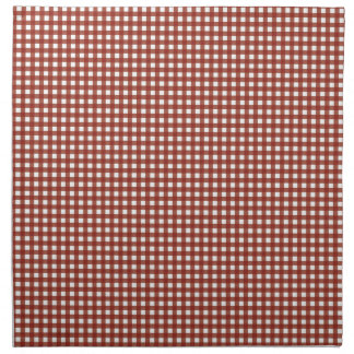 Country Bride Black on Red Gingham Napkin