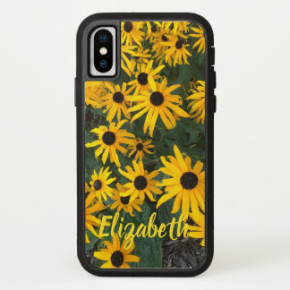 Country Brown Eyed Susans with Name Case-Mate iPhone Case