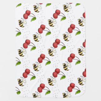 Country Bumble Bee Unisex Receiving Blankets