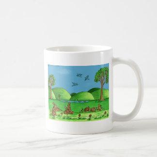 Country Bunnies Coffee Mug