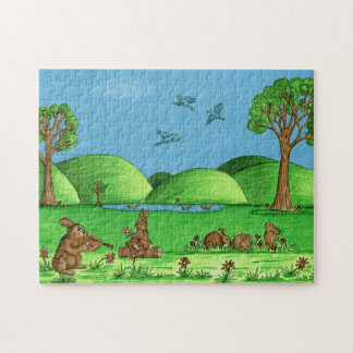 """""""Country Bunnies"""" Jigsaw Puzzle with Gift Box"""