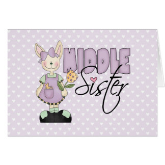 Country Bunny Middle Sister (violet) Note Card