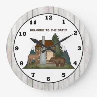 Country Cabin fun wall clock