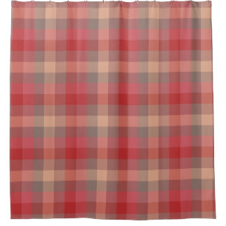 Country Cabin Rose Red Plaid Pattern