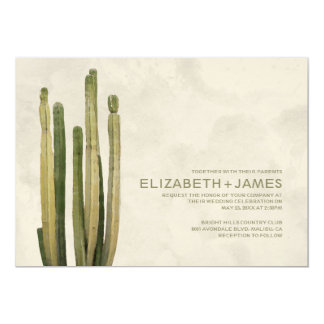 Country Cactus Wedding Invitations