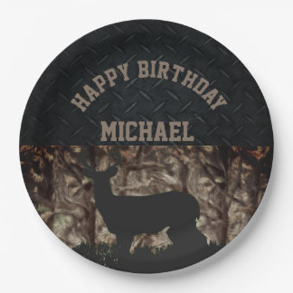 Country Camo Hunting Custom Birthday Plates