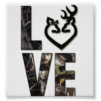 Country Camo Love Poster