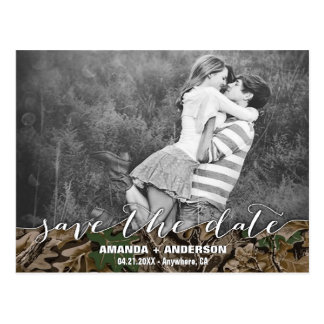 Country Camo Rustic Photo Save the Date Cards
