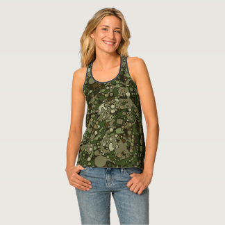 Country Camouflage Alloverprint Racerback Tank Top