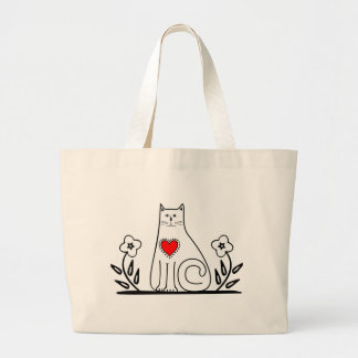 Country Cat Large Tote Bag