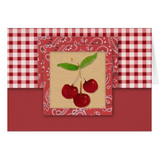 Country Cherries Note Card