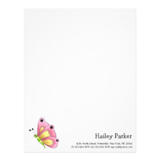Country Cherries · Pink Butterfly Letterhead