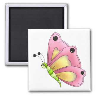 Country Cherries · Pink Butterfly Magnet