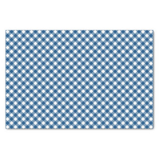 Country Chic Blue Gingham Pattern Tissue Paper