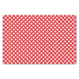 Country Chic Picnic Red Gingham Pattern Tissue Paper