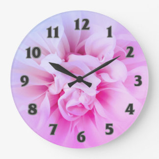 Country Chic Pink Dreamy Dhalia Clock