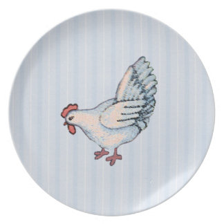 Country Chicken Melamine Plate