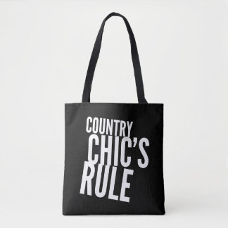 Country Chics Rule Tote Bag