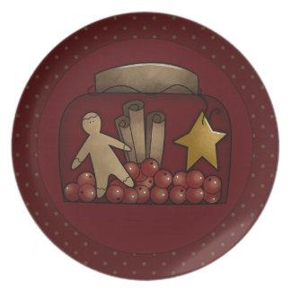 Country Christmas Charm Plates