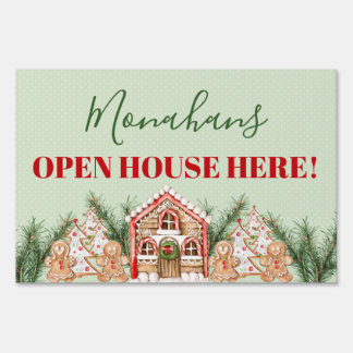 Country Christmas Gingerbread House Sign
