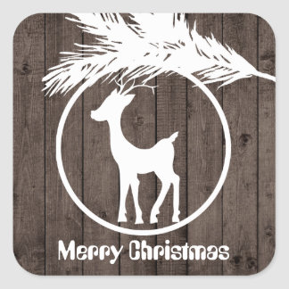 Country Christmas reindeer bulb add text sticker