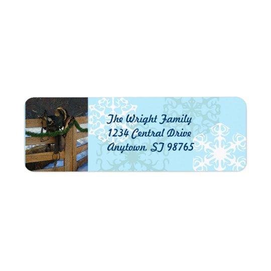 Country Christmas Return Address Label
