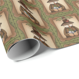Country Christmas snowman Holiday party wrap Wrapping Paper