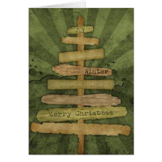 Country Christmas Tree Christmas Card