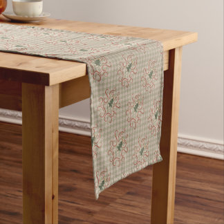 Country Christmas tree pattern Short Table Runner