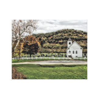 Country Chruch Canvas Print