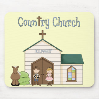 Country Church Cowboy Cowgirl Horse Mouse Pad