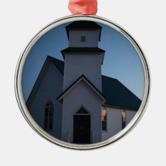 Country Church Metal Ornament