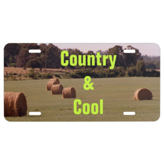 Country & Cool License Plate
