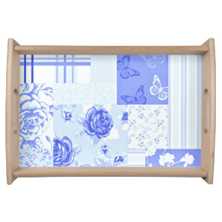 Country Cornflower Blue Service Tray