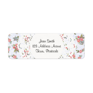 Country cottage roses pink floral pattern
