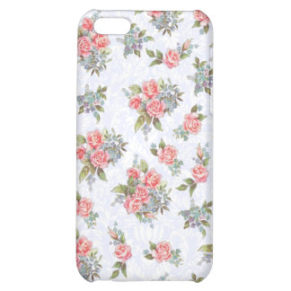 Country cottage roses pink floral pattern iPhone 5C covers