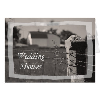 Country Couples Wedding Shower Invitation