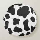 Country Cow Pattern Round Pillow