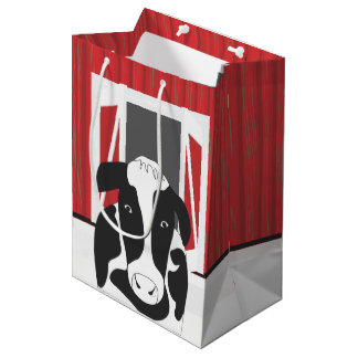 Country Cow with a Barn MGB Medium Gift Bag