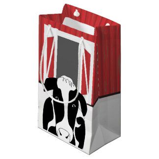 Country Cow with a Barn SGB Small Gift Bag