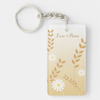 Country Daisies acrylic keychain