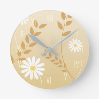 Country Daisies wall clock