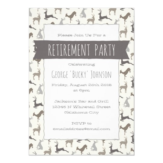 Country Deer Retirement Party Card