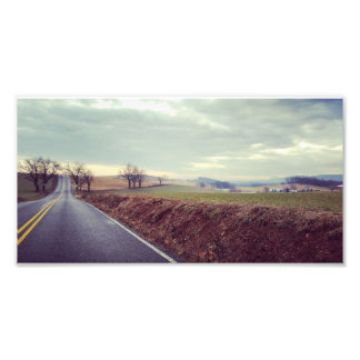 Country Drive Photo Print