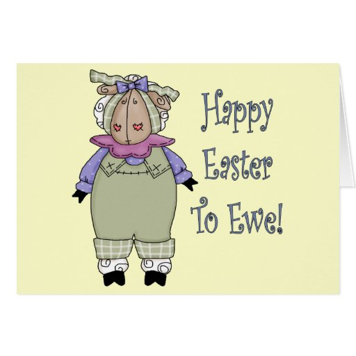 Country Ewe Easter T shirts and Gifts Greeting Card
